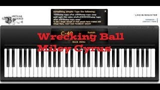 Repeat youtube video Virtual Piano - Wrecking Ball