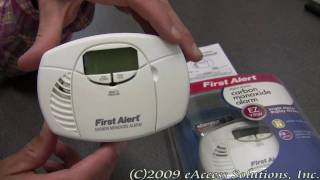First Alert Digital Display Carbon Monoxide Alarm explanation and un-boxing video