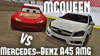 Mercedes-Benz A45 AMG vs Lightning McQueen GTA SA [DOWNLOAD LINK]