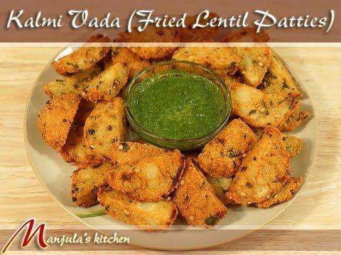 Kalmi Vada (Fried Lentil Patties) Recipe by Manjula, Exotic Indian Appetizers