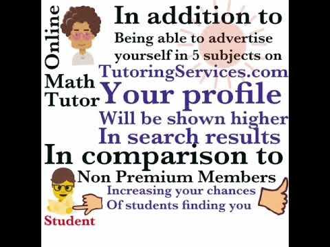 Premium basic registered math tutor