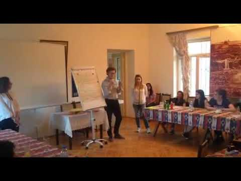 Adrien Beauduin adress to the participants of the Workshop on Civic Activism in Ashtarak