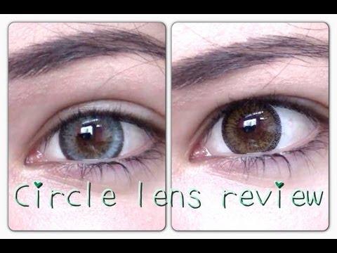 Shiny grey circle lenses & Brown Circle Lens review & COUPON CODE PinkyParadise circle lenses review