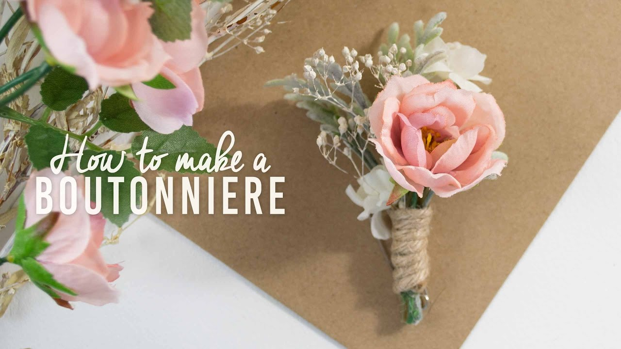 Diy Basic Boutonniere Super Simple Youtube