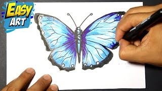 how to draw buterfly - como dibujar una mariposa -  como pintar una mariposa.