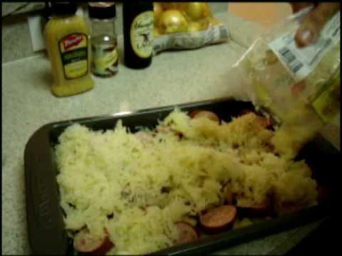 Kielbasa & Sauerkraut With Potatoes, Onions & Beer!