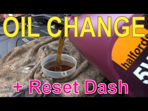 Vauxhall Astra Oil Change and 'Remaining Oil Life' Reset to '100%' on Dash Panel
