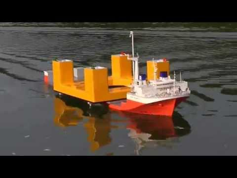 Mighty Servant 3 Semi-Sub RC model with a demo TLP Hull