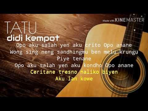 Karaoke Gitar Akustik Tatu Didi Kempot Youtube