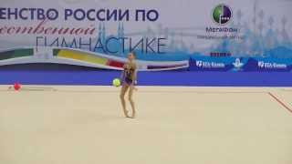Петрова Олеся, мяч. Первенство России по гимнастике г.Казань 2014