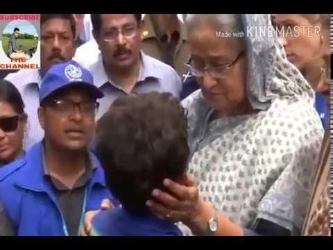 Prime Minister Sheikh Hasina visited Rohingya refugees