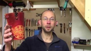 Fabrication d'un canon pour archer en cuir