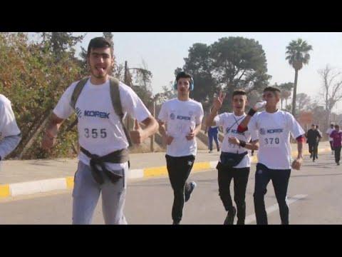 أخبار حصرية | ماراثون رياضي في الموصل ينفض غبار داعش وإرهابه  - 19:23-2017 / 12 / 7