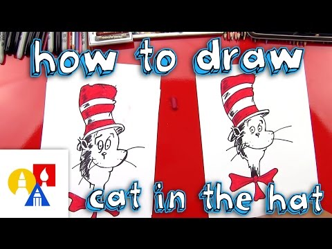 How To Draw The Cat In The Hat Youtube