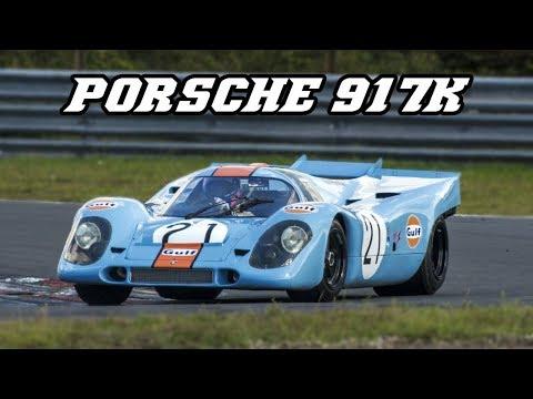 Porsche 917K Gulf - Demo laps at Zandvoort 2017 (+ idle & revving)