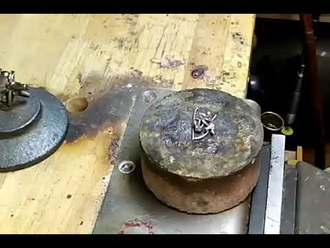 Melting platinum into an ingot for rolling