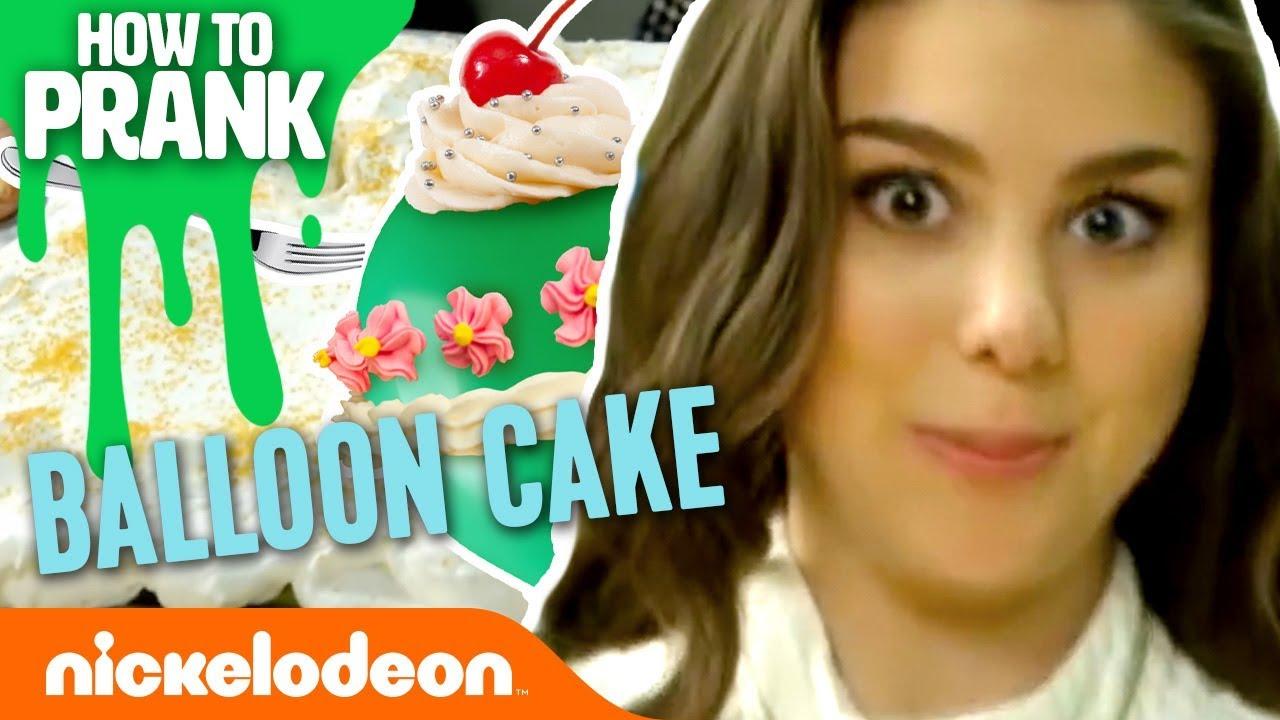 How To Prank Kira Kosarin Makes A Balloon Cake Nick