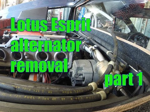 1989 Lotus Esprit Turbo Alternator Removal part 2