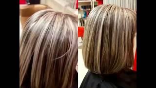 Мелирование волос с тонированием