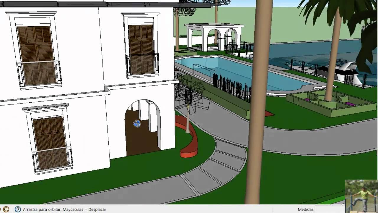 Dise o de mansiones google sketchup 8 youtube for Software diseno de casas