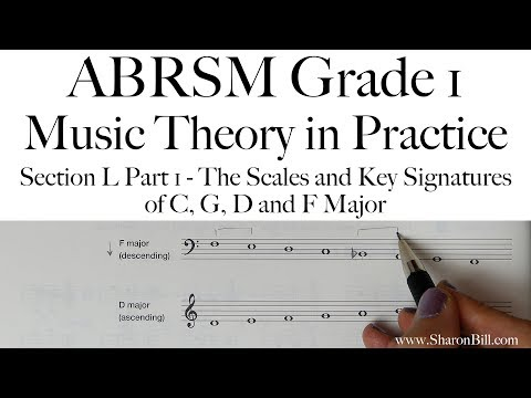 ABRSM Grade 1 Music Theory Section L Part 1 The Scales of C, G, D and F Major with Sharon Bill