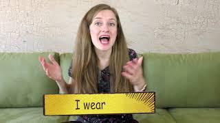 Как разница между I wear и I am wearing?