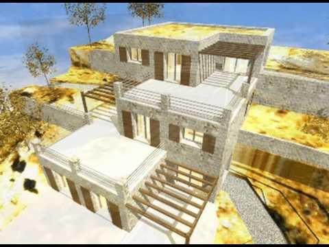 architecte en corse r sidence villa de 3 appartements contemporains et ecologiques youtube. Black Bedroom Furniture Sets. Home Design Ideas