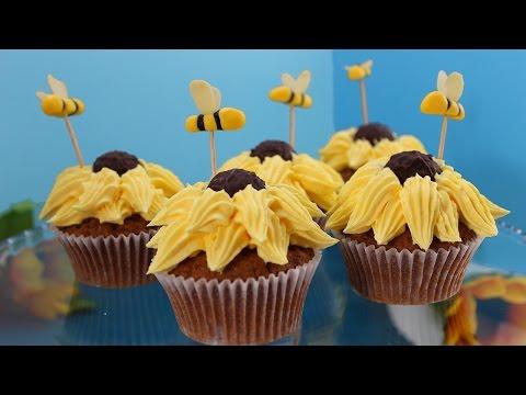 Sonnenblumen Cupcakes / Bananen Cupcakes