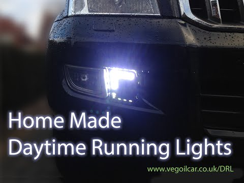 CUSTOM DRLs make daytime running lights yourself - by VegOilGuy