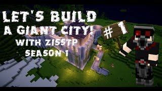 Minecraft Timelapse let's build: City mega build EP01 Starting out with a keep | ZissTP