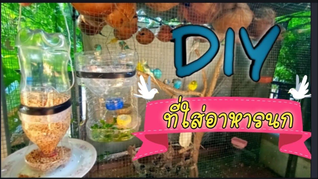 #DIYที่ใส่อาหารนก #วัสดุเหลือใช้