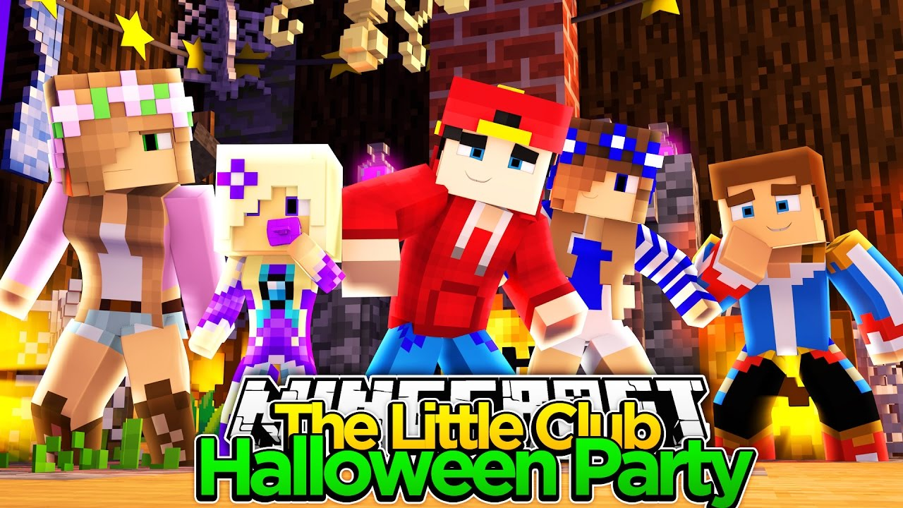 Minecraft Adventure - THE BEST HALLOWEEN PARTY EVER!!! - YouTube