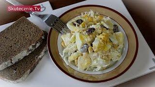 Warstwowa sałatka -seler, jajko, fasola, ananas, por :: Skutecznie.Tv [HD]