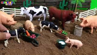 Download Vaca🐮  y Cerdo🐷  para niños - Juegos de Animales de la Granja - Mimonona Stories Mp3 and Videos