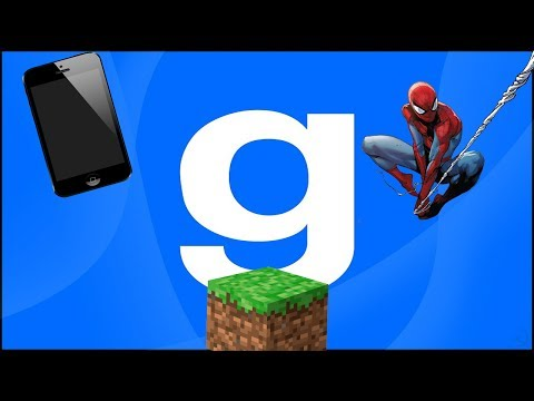 Обзор аддонов для Garry's Mod #20 (GPhone, MINECRAFT SWEP, Spider-Mod)