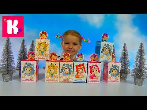 Малыши - животные в коробочках с сюрпризом / Обзор игрушек