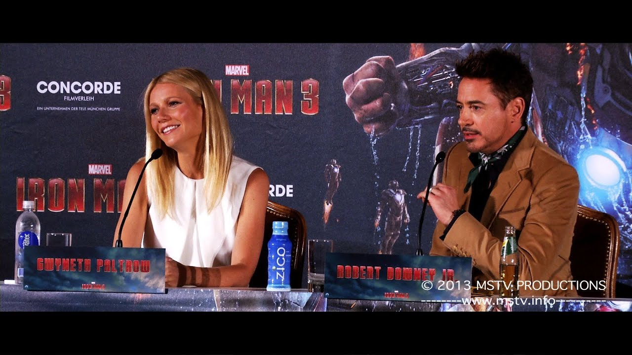 Iron Man 3: Pressekonferenz München (original language)