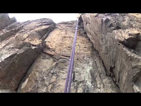 Rappelling Down Palisade Head