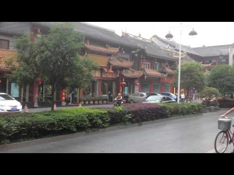 Traditional architecture street in Chengdu, China. 1 April 2015