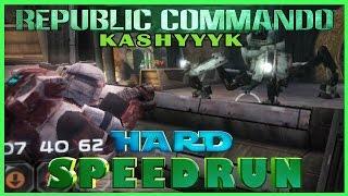 Star Wars: Republic Commando PC Speedrun Kashyyyk Hard Difficulty (old pb)