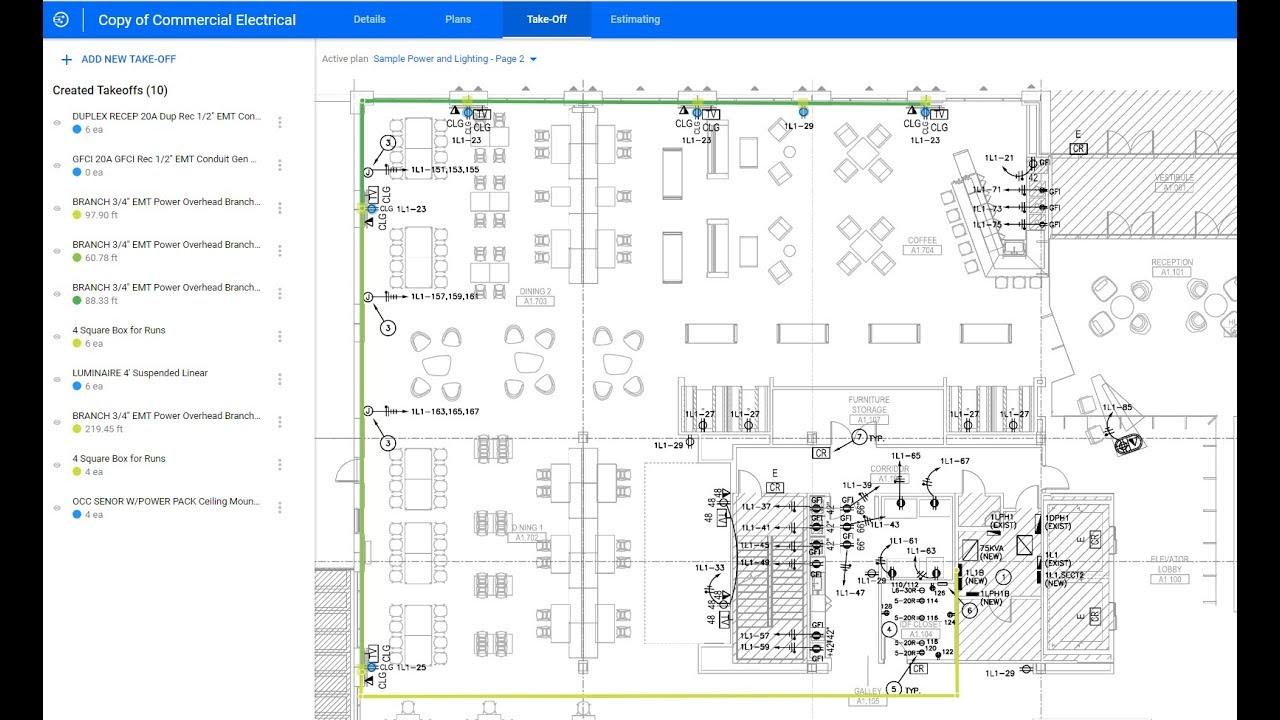 hight resolution of esticom cloud based onscreen takeoff and electrical estimating software demonstration