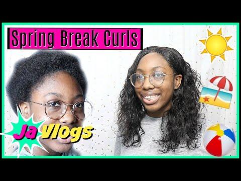 Spring Break Curls | Sew In | Her Hair Company | Hair Tutorials | JaVlogs