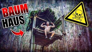 BAUMHAUS im Dschungel bauen #003 - Unge Survival Challenge - Bushcraft Camp | Fritz Meinecke