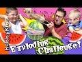 Exploding Watermelon! Rubber Band Challenge + Dinosaur Eats. Fun W hobbyguy Hobbykidstv video