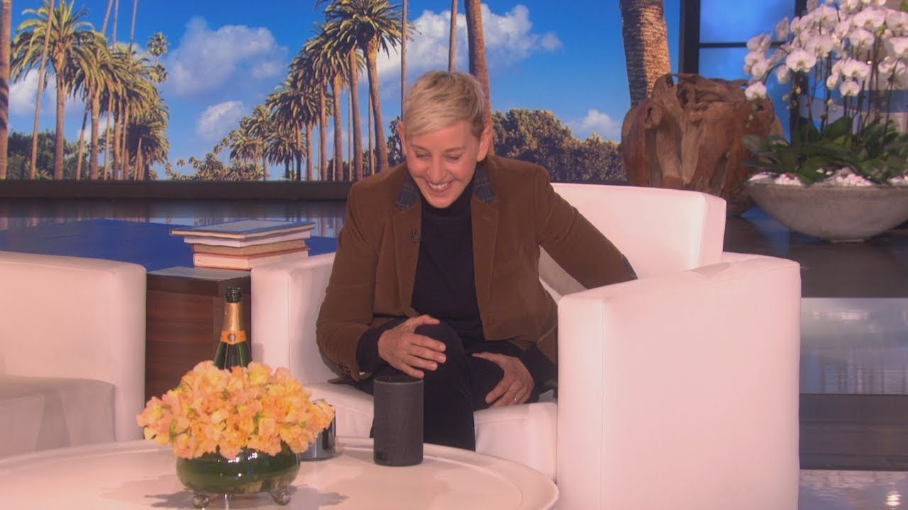 Ellen Tries Out a 'Nicer' Version of Amazon Alexa