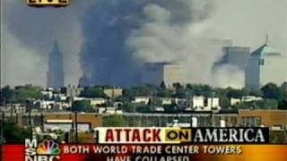 Woolworth building - footage during 9/11World trade center attacks - alleged missiles.