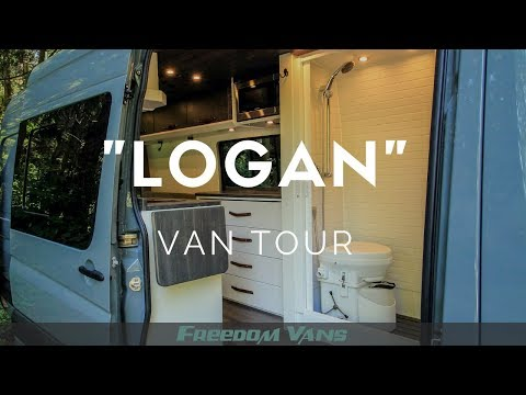 Home On Wheels Sprinter Van Conversion With Bathroom TOUR