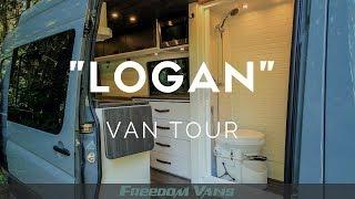 Home on Wheels Sprinter Van Conversion With Bathroom TOUR