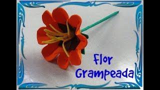 Flor Grampeada Fácil - DIY