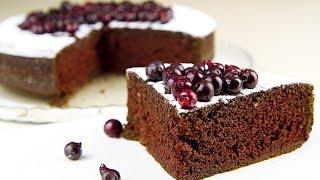 Пористый, Шоколадный Пирог / Постный Рецепт